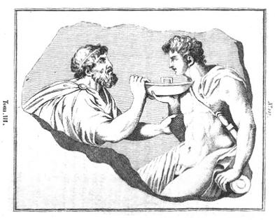 Figure 1 – Johann Joachim Winckelmann, Monumens inédits de l'Antiquité (…), traduits de l'italien en français par A.-F. Désodoards, Paris, 1809, t. III, n°127.